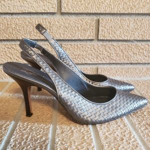 Donald J. Pliner Shoes High Heel Woven Leather 9.5